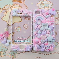 Sugar Fairy World case - Super cute kawaii front back case for Iphone 4 4s 5 5S galaxy s2 s3 with lovely matching phonestrap