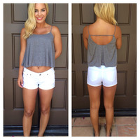 Charcoal Grey Jersey Summer Tank