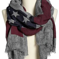 Women's Flag-Print Scarves