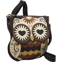Loungefly LFTB0391 Owl with Heart Eyes Cross Body Bag