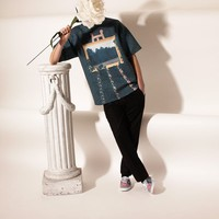 OPENING CEREMONY & MAGRITTE LA CASCADE MOCK NECK OVERSIZED TOP - MEN - OPENING CEREMONY & MAGRITTE