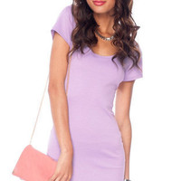 Go Back Across Dress in Lavender :: tobi
