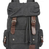 AM Landen Stylish Canvas Backpack School Bag Travel Bag Avail. 5 Colors