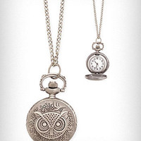 Time Flies Pocket Watch Necklace | PLASTICLAND