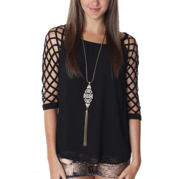 Net Sleeve Blouse