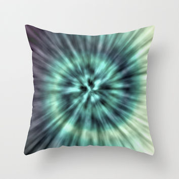 TIE DYE II Throw Pillow by Nika