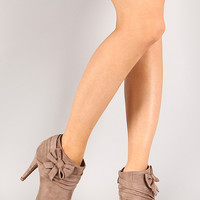 Botti-3 Bow Peep Toe Ankle Bootie