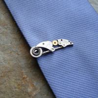 Clockwork Tie Clip Twenty One Clockwork by amechanicalmind on Etsy