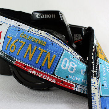 dSLR Camera Strap, License Plates, Car Tags, Auto, 167 w