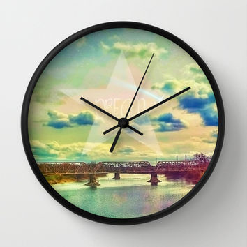 DREAM LAND Wall Clock by DuckyB (Brandi)