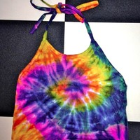 SWEET LORD O'MIGHTY! LIL TIEDYE HALTER TOP