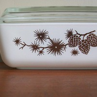 vintage rare 1961 pyrex golden pine promotional by compostthis