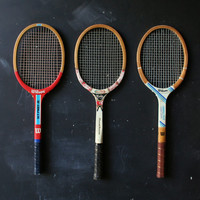 3 Vintage Tennis Rackets Home Decor Display From Nowvintage on Etsy