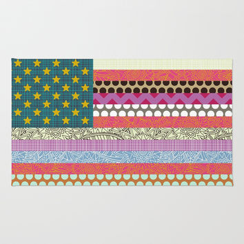 US Beauty flag Area & Throw Rug by Sharon Turner | Society6