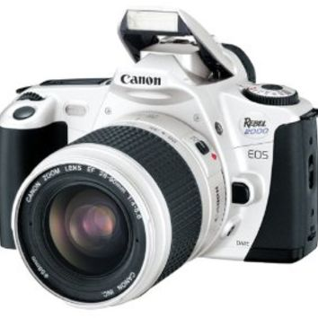 Canon EOS Rebel 2000 Silver Date 35mm SLR Camera Deluxe Kit with 28-90mm Lens
