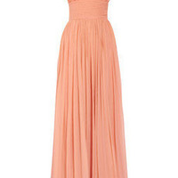 By Malene Birger|Cretine silk-chiffon one-shoulder gown|NET-A-PORTER.COM