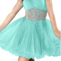 Angel Bridal Evening Prom Cocktail Dresses Tulle Homecoming Dresses Short