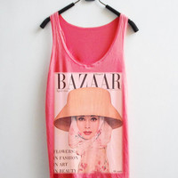 Audrey Hepburn Women Tank Top  BAZAAR by Hudiefly2 on Etsy