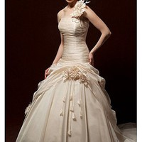 Buy Beautiful Elegant Exquisite Organza Ball Gown Wedding Dress In Great Handwork