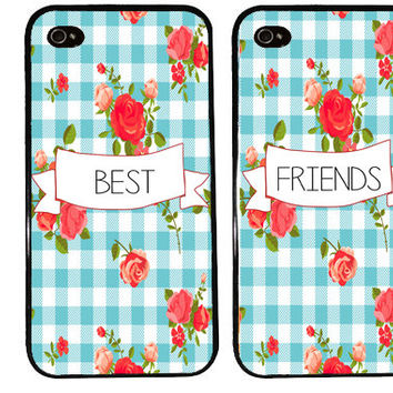 BEST FRIENDS banner bff Case / Flower County Pattern iPhone 4 Case iPhone 5 Case iPhone 4S Case iPhone 5S Picnic Pattern