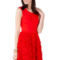JUN & IVY ROSETTE DRESS