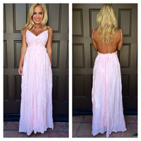 Evening in Paris Maxi Dress - BLUSH PINK