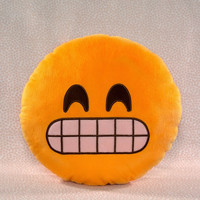 Grin Emoji Pillow