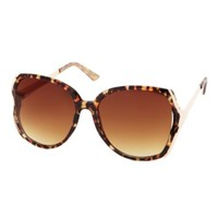 STUDDED ANIMAL PRINT OVERSIZED SUNGLASSES