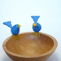 Carved Fat Bird Bowl