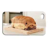 Cute Pug Dog Puppy Bread Funny Case iPhone 4 4s iPhone 5c iPhone 5 5s 6 Cover
