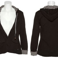 RUSTY Washable HB3 Headphone Hoodie W/ Stripe Lining (Black)
