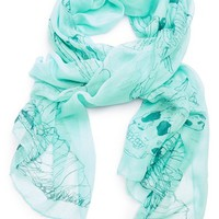 Jules Smith Eagle & Skull Scarf