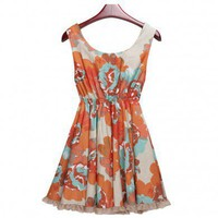 Beautiful ball gown slim fit print dress