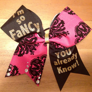 I'm so fancy you al ready know , cheer bow cheerbow , cheerleader , cool cheer bow , pink cheer bow , black cheer bow , Bella  bows