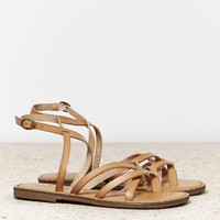 AEO Strappy Thong Sandal, Brown | American Eagle Outfitters