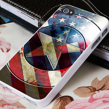 Captain America Winter Soldier Shield US for iPhone 4/4s/5/5s/5c - iPod 4/5 - Samsung Galaxy s2/s3/s4 Case
