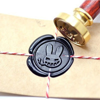 Gangster Rabbit B20 Gold Plated Wax Seal Stamp x 1