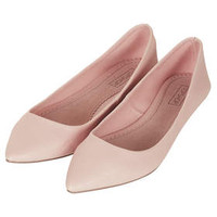 VOLTAIRE Tumbled Point Shoes - Nude