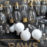 Price Reduced 50%  at Checkout....Lightbulbs Various Sizes and shapes for Crafting, Painting ,Recycled Light Bulbs