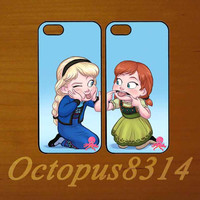 Elsa and Anna,Best friends,in pair two pcs,iphone 5S case,iphone 5C cover,iphone 5 case,iphone 4 case,ipod 4 case,ipod 5 case
