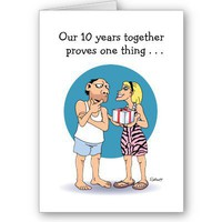10 Year Anniversary Card: Love from Zazzle.com