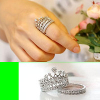 Princess Crown Ring Set Of 2