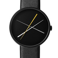 Crossover Watch in Black by Projects Design
