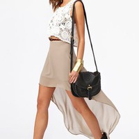Get Down Skirt - Taupe in  What's New at Nasty Gal