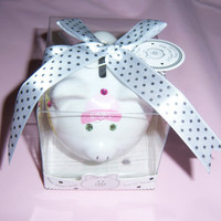 Baby girl mini ceramic piggy bank  by MoanasUniqueDesigns on Etsy