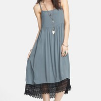 Free People Crochet Hem Slipdress