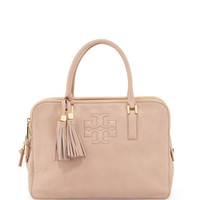 Thea Triple-Zip Leather Tote Bag, Porcelain Pink - Tory Burch