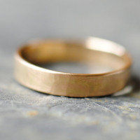 Wedding Ring 14k Gold 4mm Wedding Band by DalkullanJewelry on Etsy