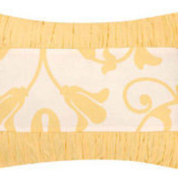 Yellow Band Throw Pillow
