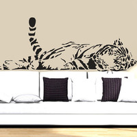 Wall Decal Vinyl Sticker Decals Art Decor Design  Tiger Lion Leopard Panter Animals  Nature Wild Cat Fashion Bedroom Dorm (r810)